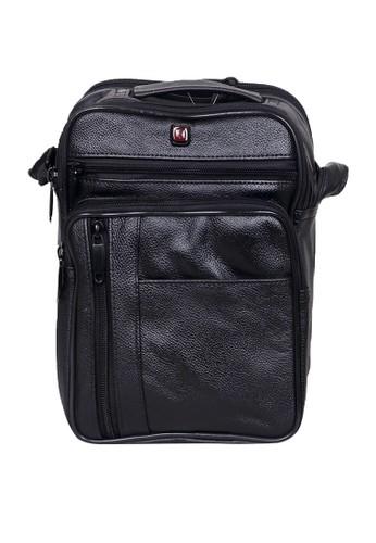 Logan Styles black Pu Verizon Messenger Bag With Black Zip - Black ED3EFACC48E1E0GS_1