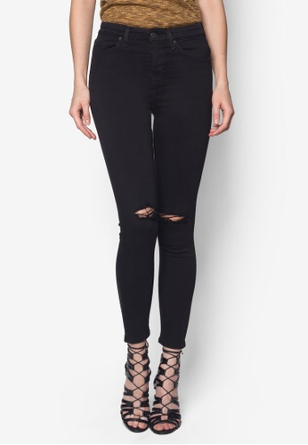 TOPSHOP black Moto Black Ripped Jamie Jeans TO249AA28KCPSG_1
