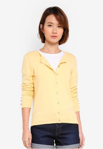 Dorothy Perkins yellow Lemon Cotton Cardigan 2F9C1AA9B9B939GS_1