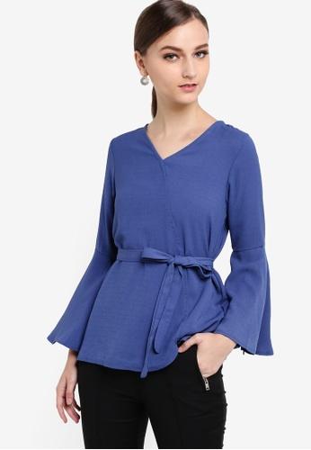 VERCATO blue Ava Bell Sleeve Top VE999AA84BJJMY_1