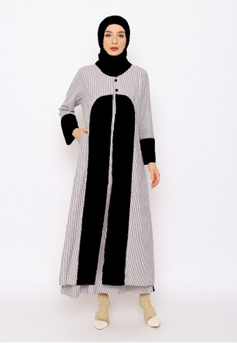 Edissy Fashion black Tiqasya Dress Rompi Codoray 0660FAADD551A4GS_1
