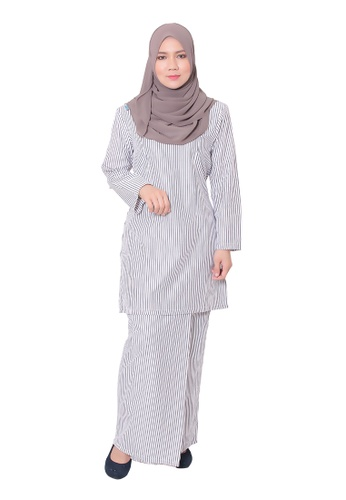 Baju Kurung Mawar from AALIA in White