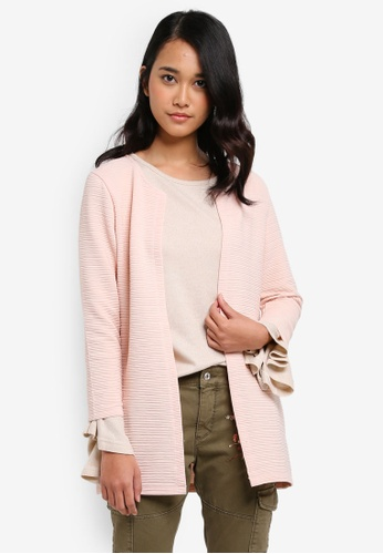 ONLY pink ONLY ONE Long Loose Jersey Cardigan C6F5CAA8FC180AGS_1