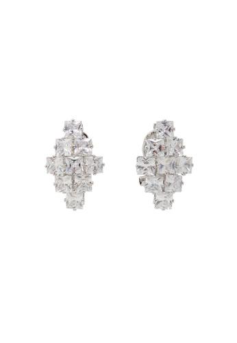 Jaysa Collection gold Zirconia Array Glamour Earrings JA875AC0GPWRSG_1