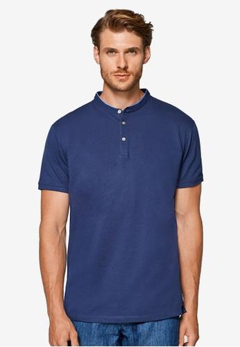 ESPRIT 海軍藍色 短袖POLO衫 BD14EAA8C8DE4FGS_1