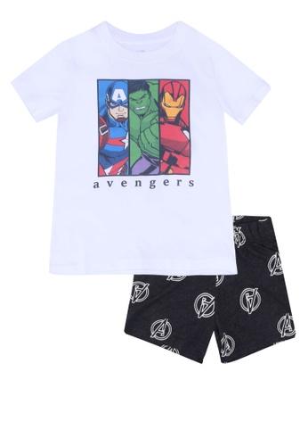 FOX Kids & Baby white White T-Shirt And Printed Shorts Set 831C8KAE0BFAE9GS_1