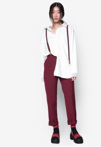 韓系時尚網紗邊飾長袖襯衫,esprit旗艦店 服飾, 上衣
