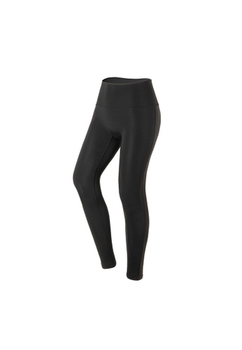 VIVIESTA SPORT black Plain Flattering High Waist Gym Leggings 53259AA960F28AGS_1