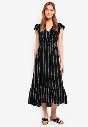 Cotton On black Woven Flora V Neck Maxi Dress 5C3D1AA4A656ACGS_1