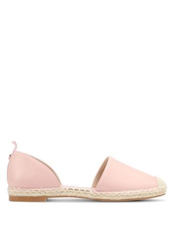 Velvet pink Faux Leather Espadrilles D2040SH6CD2D39GS_1