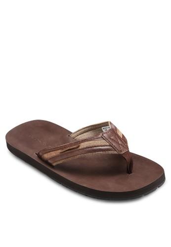 拼色夾腳涼鞋, 鞋esprit專櫃, 鞋
