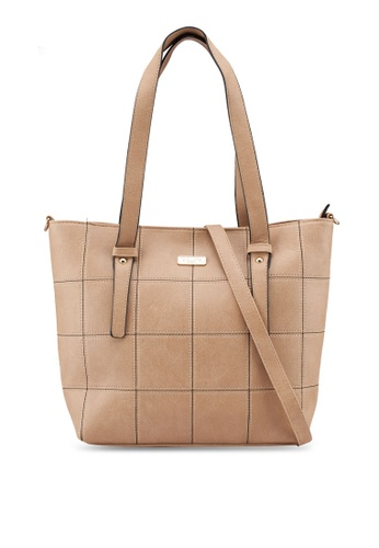 adf08afbe659 Shop Unisa Quilted Convertible Large Work Tote Online on ZALORA Philippines