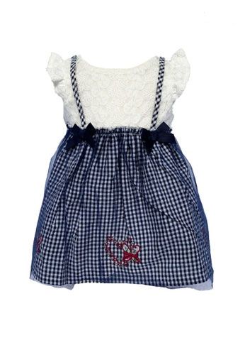 Era Maya white and blue Butterfly Embroidered Baby Pinafore Dress with Lace Top 19E48KAD5599DBGS_1