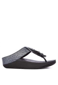 f742340dbd2d Fitflop black Cha Cha Fringed Sandals B4883SHF5C4F9CGS 1