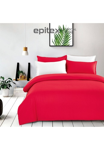 Epitex Epitex Silkysoft 900TC SS8040 Bedsheet - Bedset - Quilt Cover Set - Quilt Cover Bedsheet (Scarlet Red) 28B87HL38745E9GS_1
