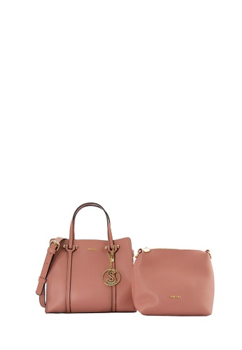 SEMBONIA pink SEMBONIA Synthetic Leather 2 In 1Tote Bag 19880AC6B71944GS_1