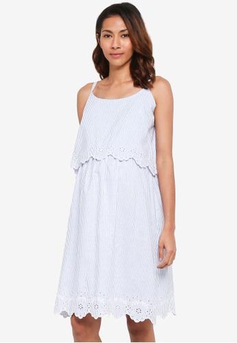JoJo Maman Bébé blue Maternity Pretty Nightdress 3F655AA8E61650GS_1