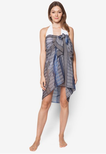 Sarong 印花沙esprit 折扣灘巾, 服飾, 泳裝及沙灘造型