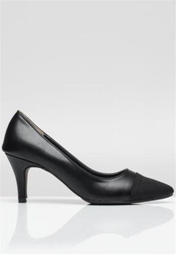 Crystal Korea Fashion black Korea Comfortable Leather Heels. 62B33SH882258EGS_1