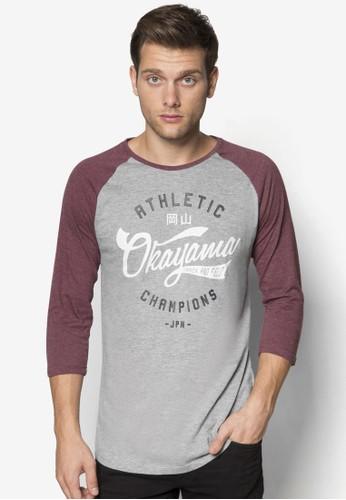 棒球風長袖salon esprit 香港衫, 服飾, T恤