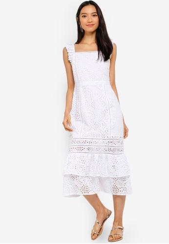 Banana Republic 白色 刺繡洋裝 815B3AA4816F9BGS_1