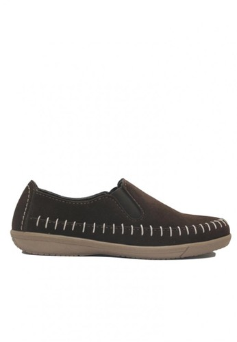 D-Island brown D-Island Shoes Casual Slip On Rajut Comfort Dark Brown DI594SH84XYXID_1