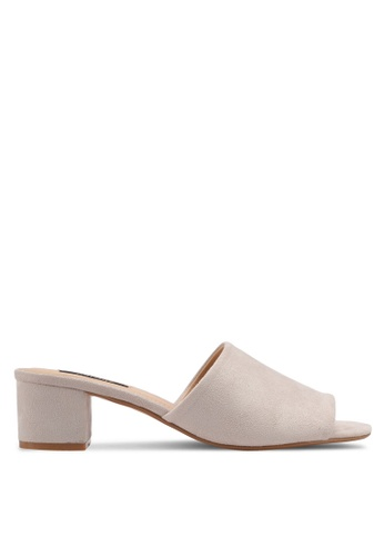 ZALORA grey Easy Heel Sliders 20673SHE3C0051GS_1