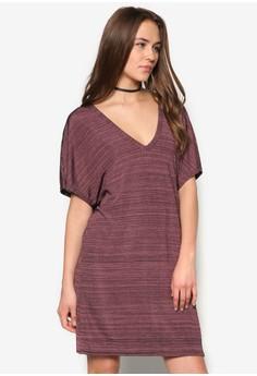 V-Neck Oversized T-Shirt Dress