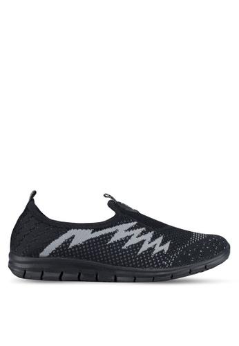 Spiffy black Ladies Sport Shoes 78E28SH85BA946GS_1