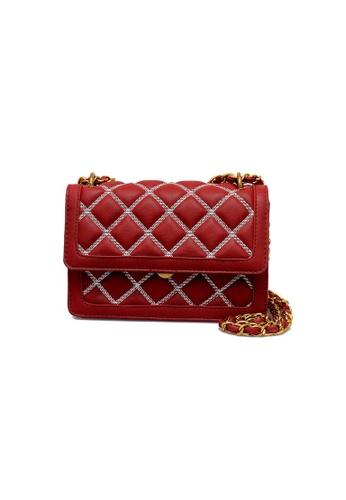 Lara red Women's Fashionable Crossbody Bag 91C5EAC37939BBGS_1