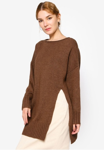 LOWRYS FARM brown Casual Pullover 9A6FFAA88D6852GS_1