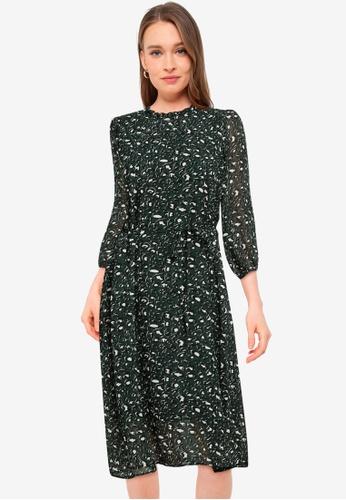 Vero Moda green Saffron 3/4 Dress 86C77AA4A3BB88GS_1