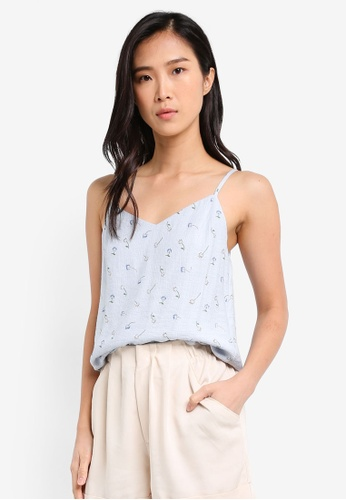 ZALORA blue Bow Back Top CA975AA584960DGS_1