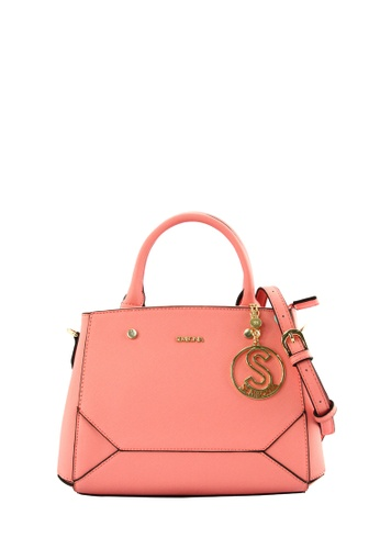 SEMBONIA pink SEMBONIA Synthetic Leather Tote Bag SE598AC0RIBHMY_1