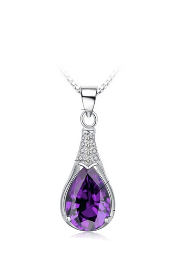 LYCKA purple and silver LPP88139 S925 Silver Necklace A1964AC894552EGS_1