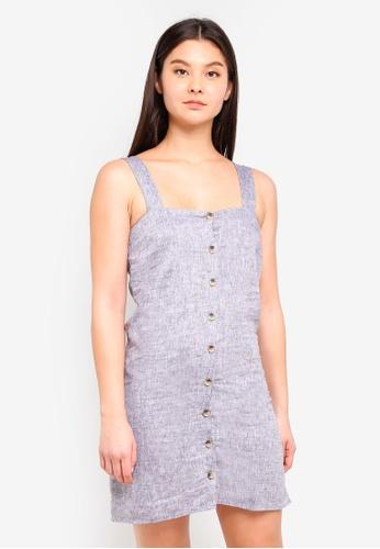 Supre grey Penny Button Through Dress AA8B6AA7EAB07CGS_1
