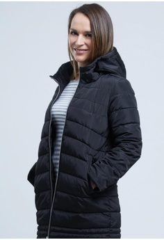 21aa0426cc6bf Yishion black Black Hooded Quilted Cotton Jacket YI173AA43AHGHK 1