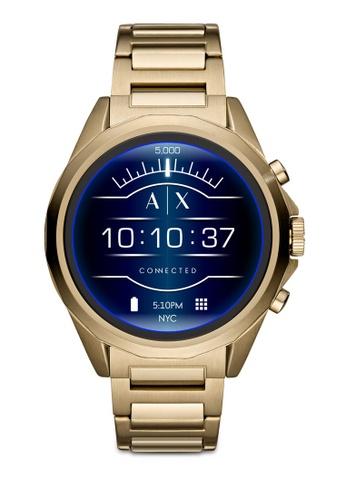 Armani Exchange gold Drexler Touchscreen Smartwatch AXT2001 F12FCAC381E999GS_1