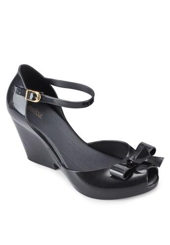 Lady Love II 蝴蝶esprit taiwan結露趾繞踝厚底高跟涼鞋, 女鞋, 鞋