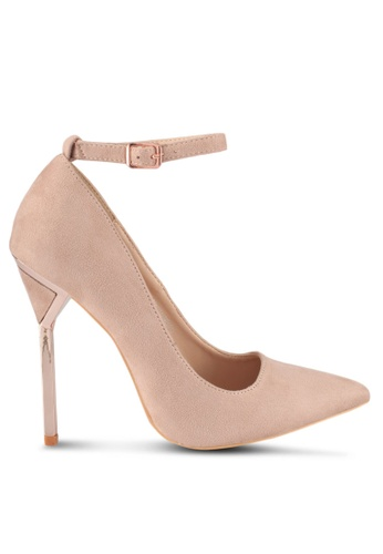 LOST INK pink Gina Metal Heel Courts FC999SHD9BF0F0GS_1
