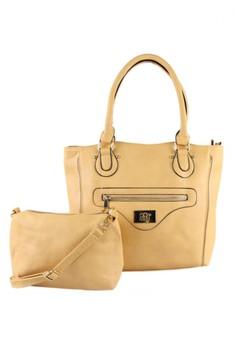 Fashion Tote Bag With Sling Bag