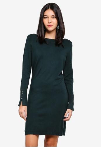OVS green Stretch Viscose Knit Dress F4410AA5A28292GS_1