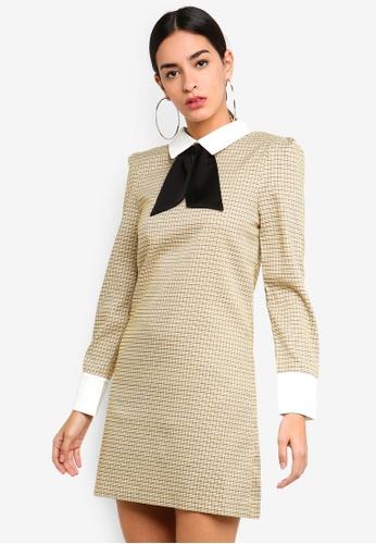 Sister Jane yellow and multi Cross-Check Rabbit Dress 4F556AA046455AGS_1