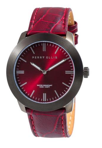 PERRY ELLIS red Perry Ellis Slim Line Unisex 42mm Quartz Watch 07007-01 6F494ACC32D7B4GS_1