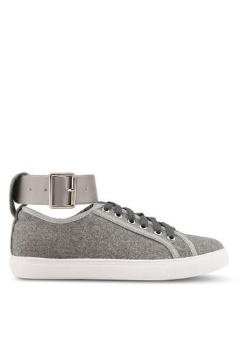 Something Borrowed grey Cuff Sneakers 26FD8SHBEDA5B0GS_1
