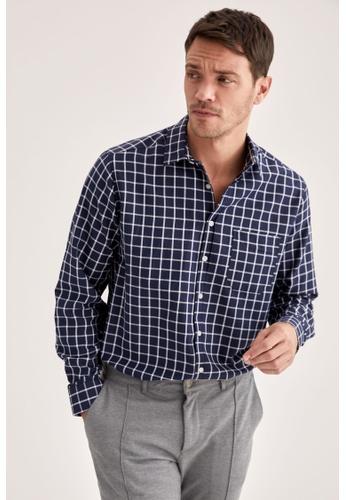 DeFacto blue Long Sleeve Shirt F0EEDAA2788B02GS_1