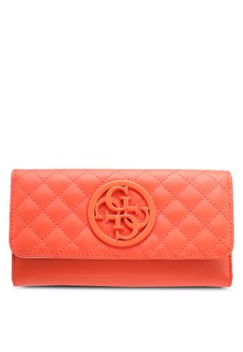 Guess orange G Lux Long Wallet 33711ACDB18F80GS_1