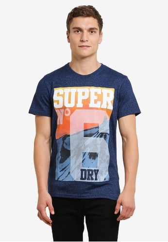 Superdry blue Super No 6 Mountain Tee SU137AA0RY5EMY_1