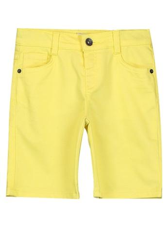LC Waikiki yellow Boy's Gabardine Shorts 22874KA030AD64GS_1