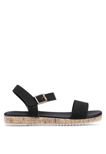 72e0a4947 Bata black Strappy Sandals 114F3SH633C2E3GS 1